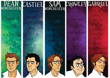 Supernatural Bookmarks by sheax-b