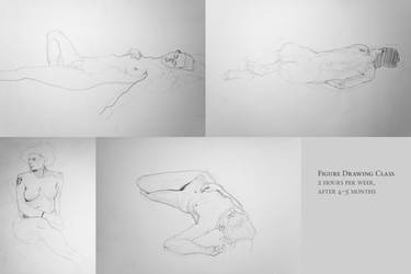 figure drawing class - 5th month by pyros