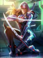 Space Ninja Girl by Concept-Art-House