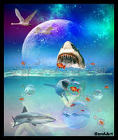 THERE ARE MANY SHARKS IN THE SEA ( and our WORLD ) by IME54-ART