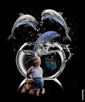 THE DOLPHINS SHOW by IME54-ART