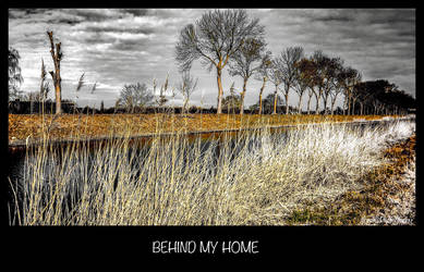 BEHIND MY HOME by IME54-ART