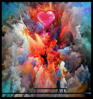 LOVE IS SOMETIMES LIKE A COLORED EXPLOSION by IME54-ART