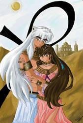 Egyptian Love for Urd-chan by bubblegummer