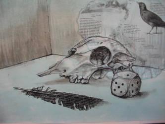Skull Still Life by PixellerJeremy