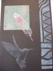 Hummingbird Etching by PixellerJeremy