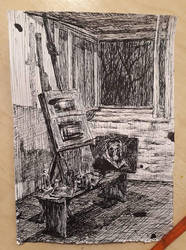 Painting Studio by LaraPetkovic