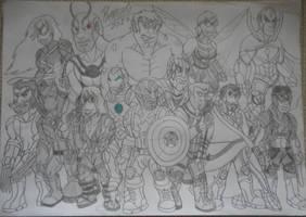 The Avengers by DiamondheadMan