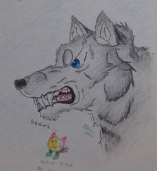 Growling Wolf by pup-fu