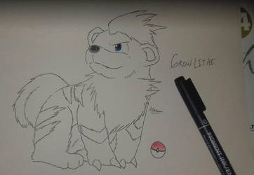 Growlithe by pup-fu