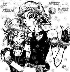 Hikari and Yami Say Merry Xmas by saphirekoshiro