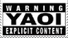 Not Another Yaoi Stamp 100+fav by vdaymassacre