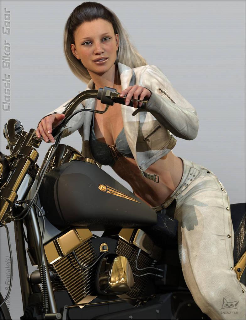 Biker Girl Gear by BadKittehCo