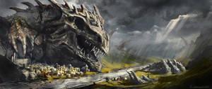 Dragon's village by ChrisOstrowski