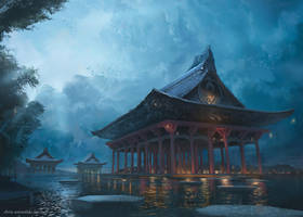 The Majestic Temple by ChrisOstrowski