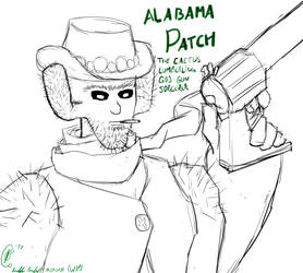 (WIP Sample) Alabama Patch, Cactus Cowboy by DFroGGotten1