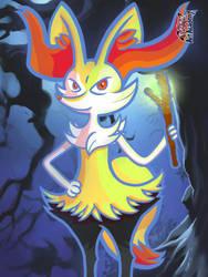 Mysterious Braixen by KISU5834