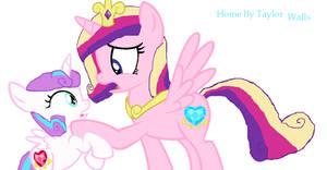 Mlp Princess Flurry Heart And Princess Cadence Hom by taylorwalls14