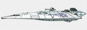 TPDF Lucas Class Gunboat by Sabakakrazny