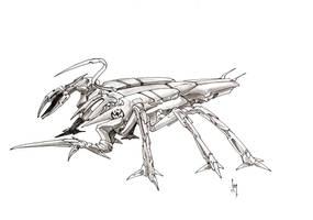 D'Kelva war drone by Sabakakrazny