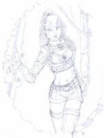 Steamborg Girl by Sabakakrazny