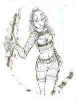 Quik Ink Steamborg Girl by Sabakakrazny
