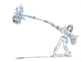 Weaponized Chompicabra by Sabakakrazny