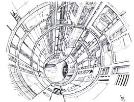 triplanetary concept, inks by Sabakakrazny