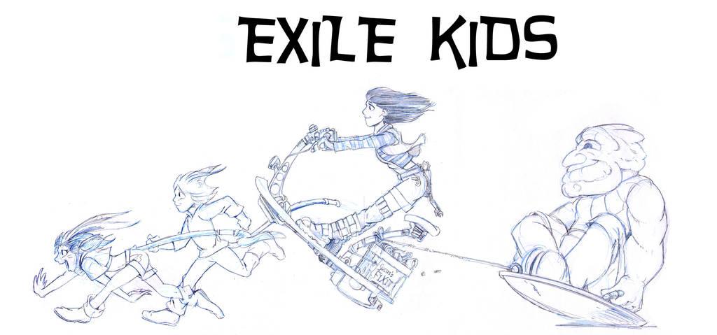 Exile Kids Composite by Sabakakrazny
