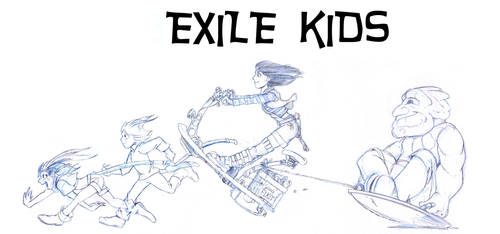 Exile Kids Composite by Sabakakrazny