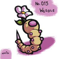 PKMNATHON 013 - Weedle by mopinks