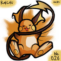 PKMNATHON 026 - Raichu by mopinks