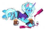 The graet and drunk trexie (punk trexie) by XxsilvixX