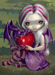 Valentine Dragon by jasminetoad