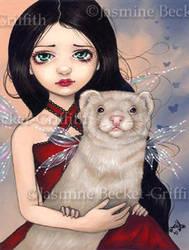 Winged Ferret by jasminetoad