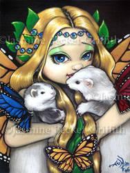 Two Fae Ferrets by jasminetoad