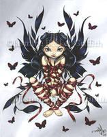 Dark Ribbon Fairy by jasminetoad