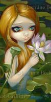 Mermaid Picking Lotus Blossoms by jasminetoad