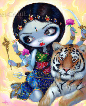Durga and the Tiger by jasminetoad