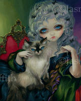 Princess with a Ragdoll Cat by jasminetoad