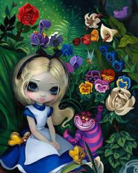 Alice in Wonderland: Alice in the Garden by jasminetoad