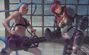 Vi and Jinx by TychyTamara