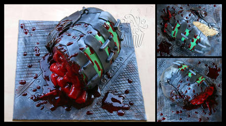 Game Over - Dead Space Fanart Cake details by CakeUpStudio