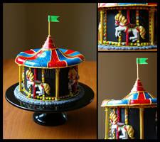 Carousel Display Cake by CakeUpStudio