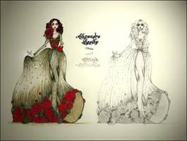 Flower Gown Design by AlexandraVeda