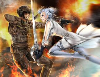 Commission: Winter vs Blackburn by manu-chann