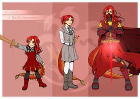 Patreon Free Sketch: Evolution of Kindle Draconem by manu-chann