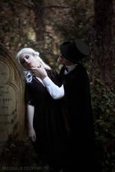 Dracula and his victim by bulleblue