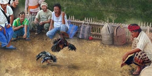 Combats de coqs / Cockfighting (Bali) by Tepee