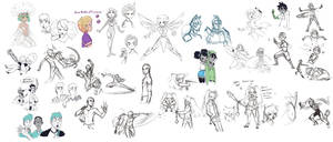 Sketch Dump 13 by ActionKiddy